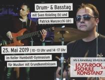 Drum – & Basstag am Samstag, den 25. Mai 2019 im Humboldt-Gymnasium